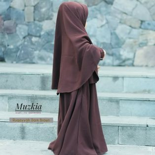 Gamis Set Ruqoyyah Dark Brown Size 0