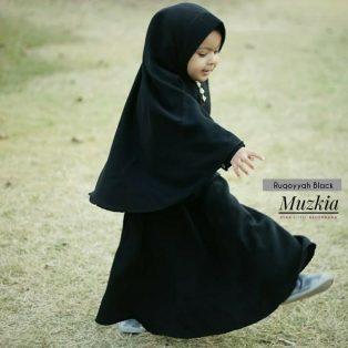 Gamis Set Ruqoyyah Black Size 4
