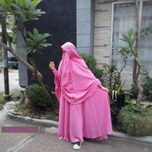Gamis Set Ruqoyyah Pink Size S