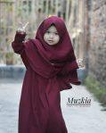 Gamis Set Ruqoyyah Maroon Size 2 By Muzkia