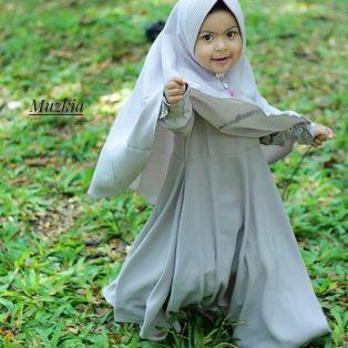 Gamis Set Ruqoyyah Grey Size 4