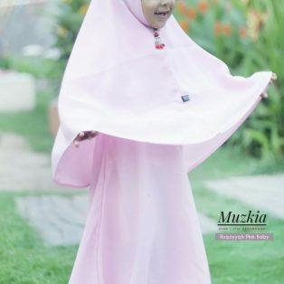 Gamis Set Ruqoyyah Pink Baby Size 8
