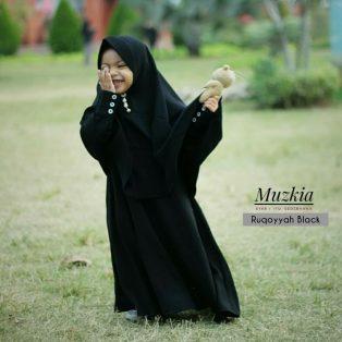 Gamis Set Ruqoyyah Black Size 12