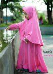 Gamis Set Ruqoyyah Pink Size 6