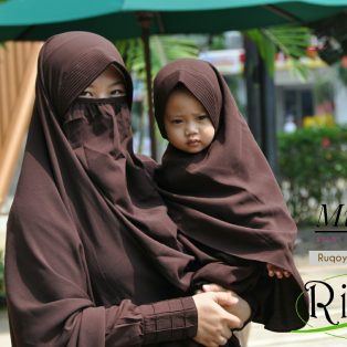 Gamis Set Ruqoyyah Dark Brown Size XL