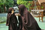 Gamis Set Ruqoyyah Dark Brown Size S