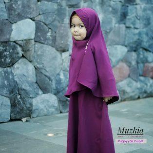 Gamis Set Ruqoyyah Purple Size 12