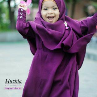 Gamis Set Ruqoyyah Purple Size XL