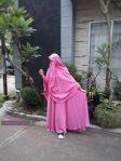 Gamis Set Ruqoyyah Pink Size L