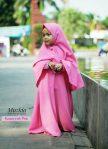 Gamis Set Ruqoyyah Pink Size M