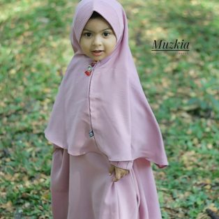 Gamis Set Ruqoyyah Lilac Size L
