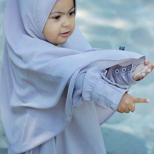 Gamis Set Ruqoyyah Grey Size S