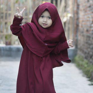 Gamis Set Ruqoyyah Maroon Size 0