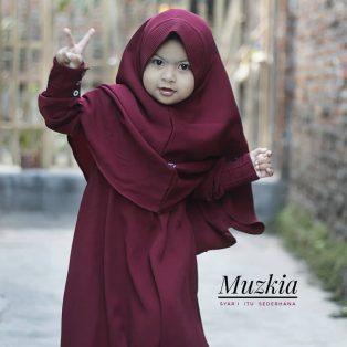 Gamis Set Ruqoyyah Maroon Size 4