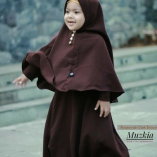 Gamis Set Ruqoyyah Dark Brown Size L