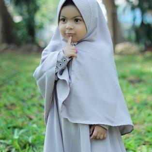 Gamis Set Ruqoyyah Grey Size 6