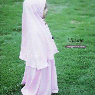 Gamis Set Ruqoyyah Pink Baby Size 10