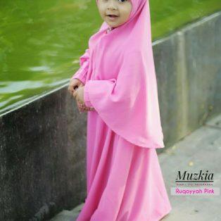 Gamis Set Ruqoyyah Pink Size 8