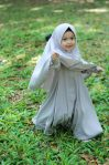 Gamis Set Ruqoyyah Series Grey Size 6