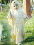 Gamis Set Ruqoyyah Cream Yellow Series