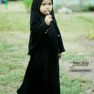 Gamis Set Ruqoyyah Series Black Size S