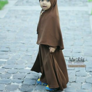 Gamis Set Ruqoyyah Series Coffee Size L