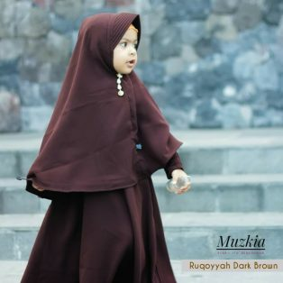 Gamis Set Ruqoyyah Series Dark Brown Size XL