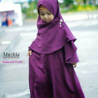 Gamis Set Ruqoyyah Series Purple Size 8 By Muzkia