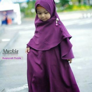 Gamis Set Ruqoyyah Series Purple Size 4