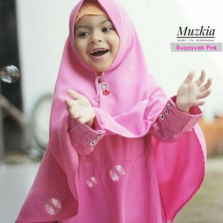 Gamis Set Ruqoyyah Series Pink Size 2