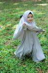 Gamis Set Ruqoyyah Series Grey Size L