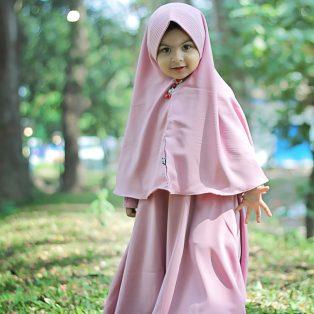 Gamis Set Ruqoyyah Series Lilac Size M