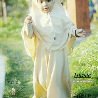 Gamis Set Ruqoyyah Series Cream Yellow Size XXL