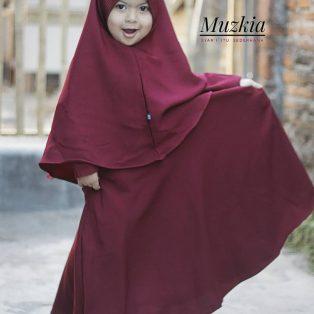 Gamis Set Ruqoyyah Series Maroon Size 10
