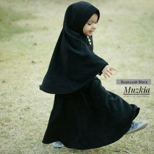 Gamis Set Ruqoyyah Series Black Size XXL