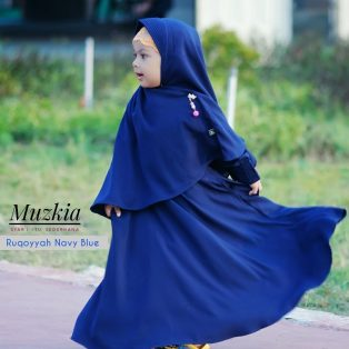 Gamis Set Ruqoyyah Series Navy Blue Size 4